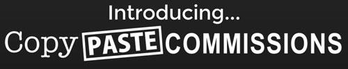 Copy Paste Commissions Logo