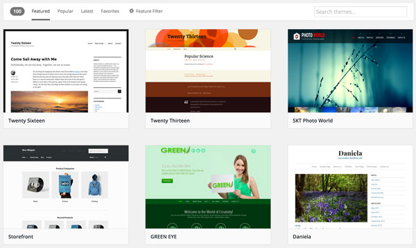 Great Choice Of WordPress Themes