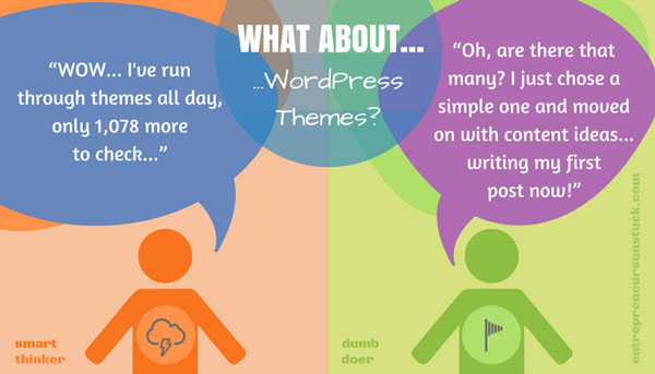 Choose a simple WordPress theme
