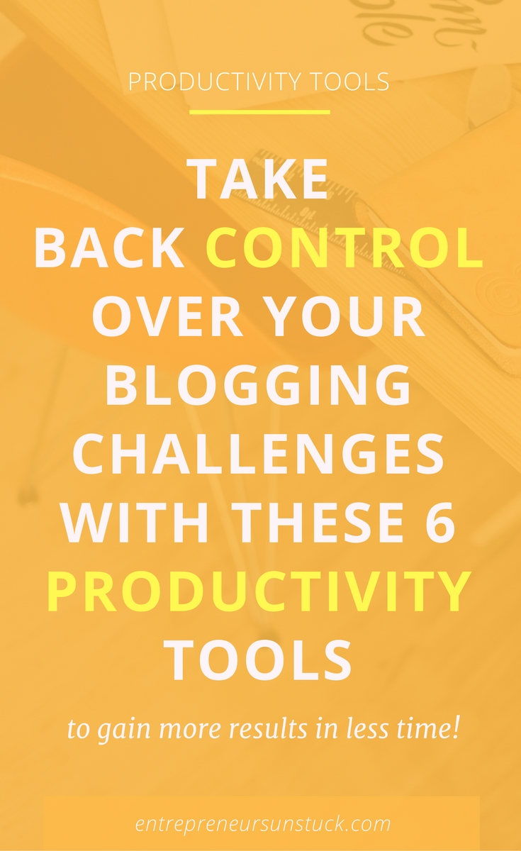 Are you a blogger or solopreneur struggling to stay organized and focused in your working day? Here's help of some awesome productivity tools to get more things done with less strain!
