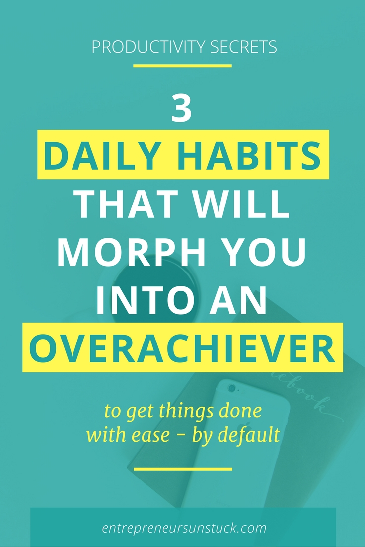 Have you ever wondered why successful entrepreneurs are so persistent in telling us about their productivity habits? Because.They.Work. Here are 3 of their daily routines worth to develop!