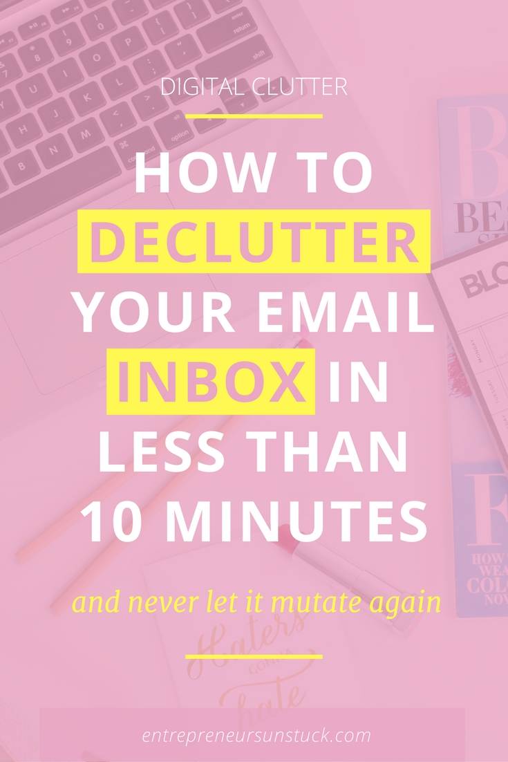 It's a blogger's everyday challenge: Coping with all the email clutter that's stuffing your inbox and lowering your productivity. If you want a clean inbox that never mutates again, this post is for you!