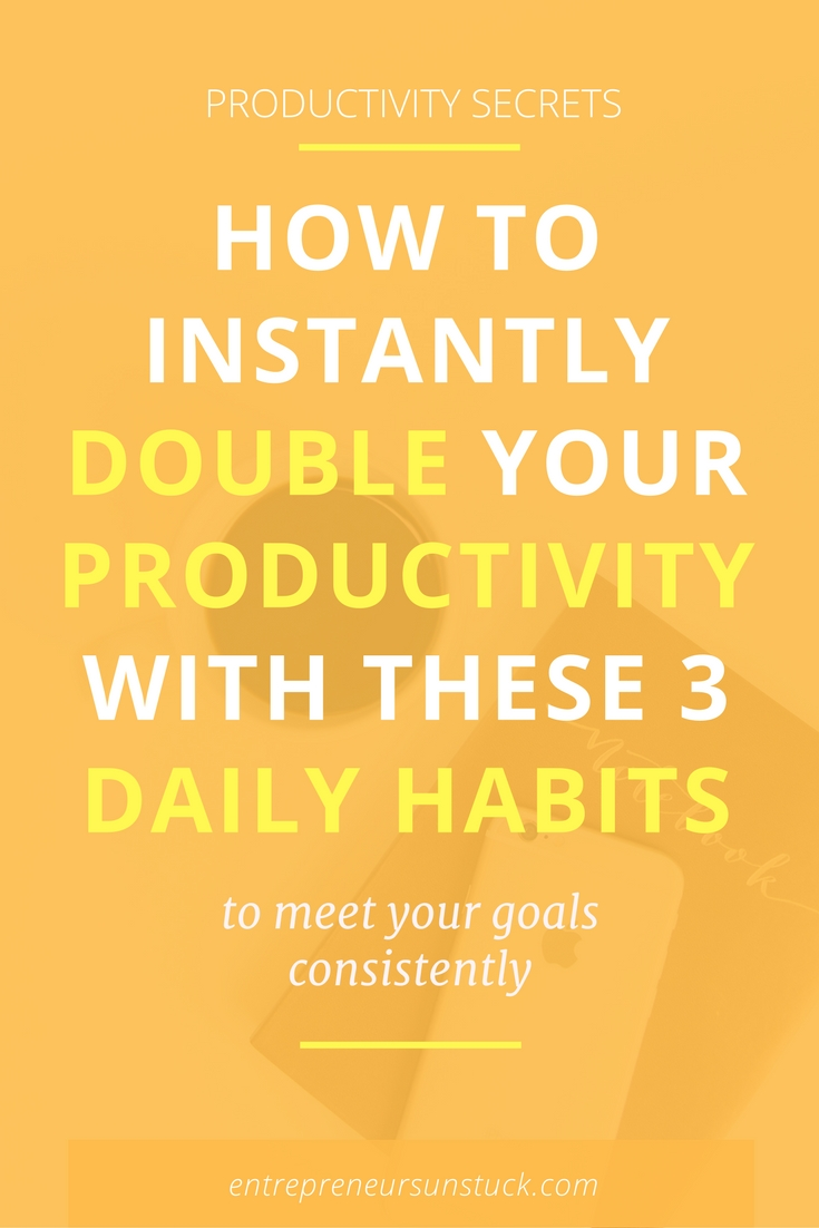 What if it only takes 3 daily habits to totally change your productivity game? Yes, go ahead and try them to see why some of the most successful entrepreneurs stick to them!
