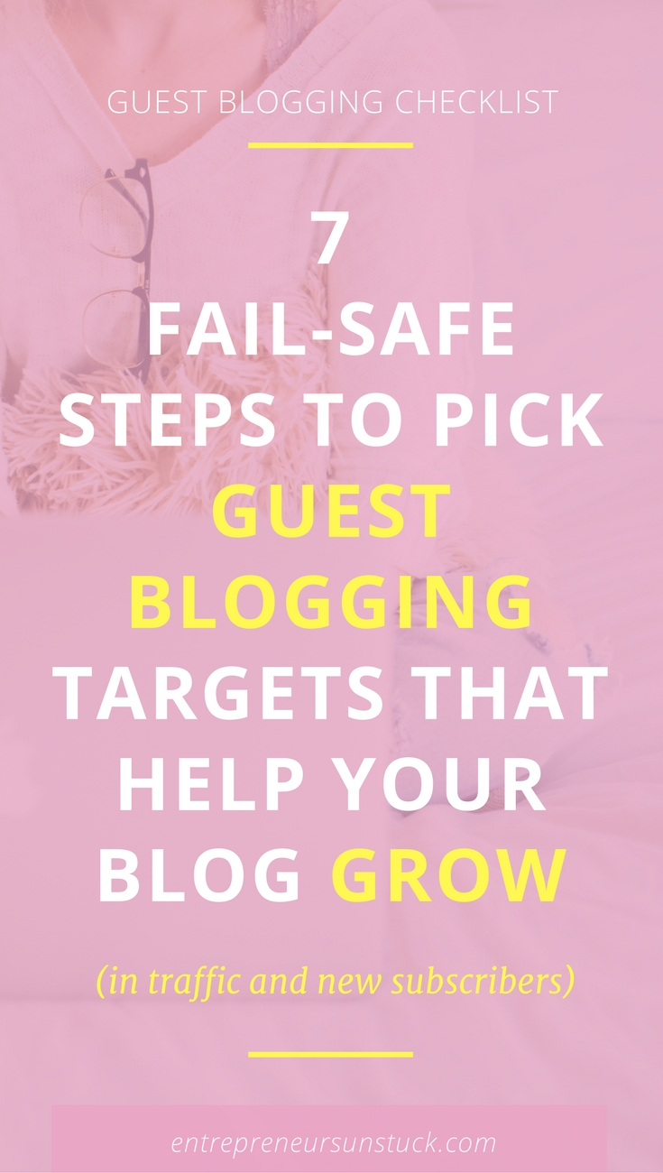 Guest blogging is a great way to streamline traffic to your blog and grow your email list. Wonder what blogs are worth to write for to meet your traffic goals? Here's help!