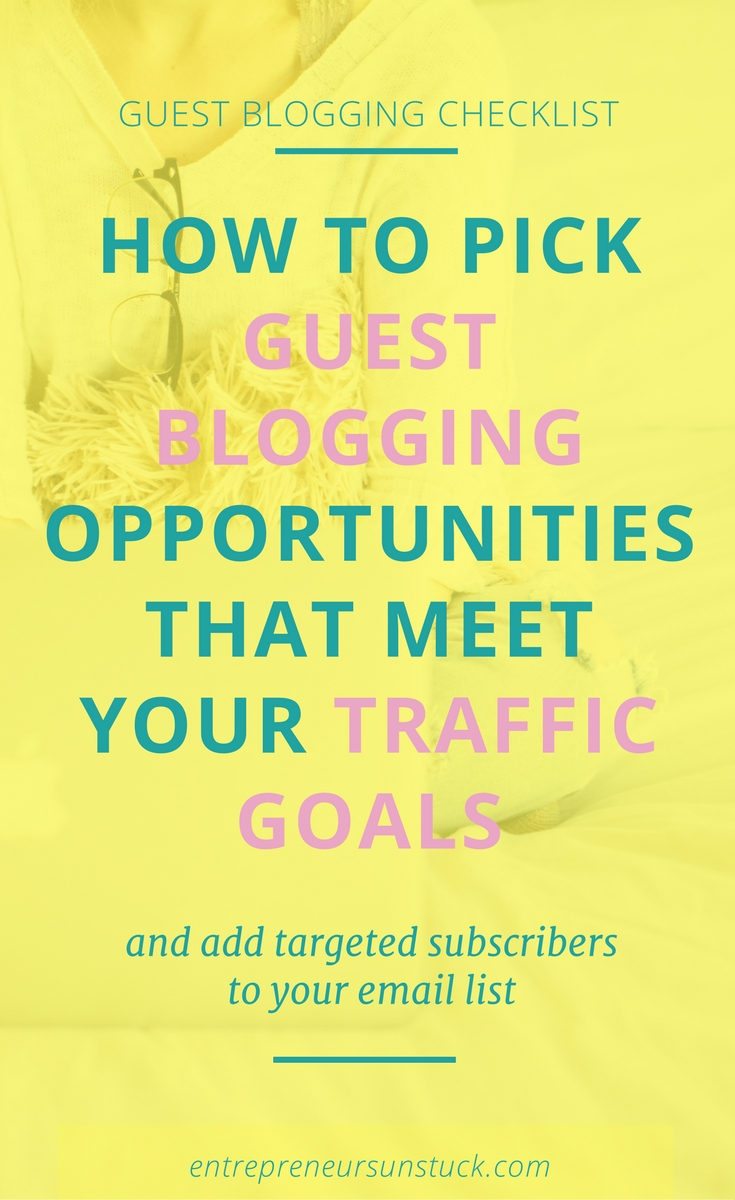 Do you want to grow your audience with the help of guest blogging but don't know where to find the best blogs to write for? Here's a checklist to easily detect the best guest blogging opportunities!