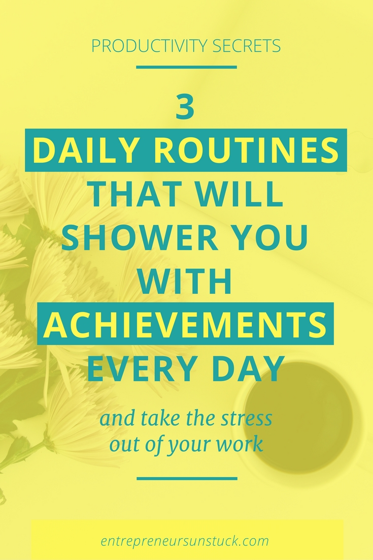Are you a blogger or entrepreneur in trouble with getting things done? Then check out these 3 powerful daily habits to easily raise your productivity to a constant high level!