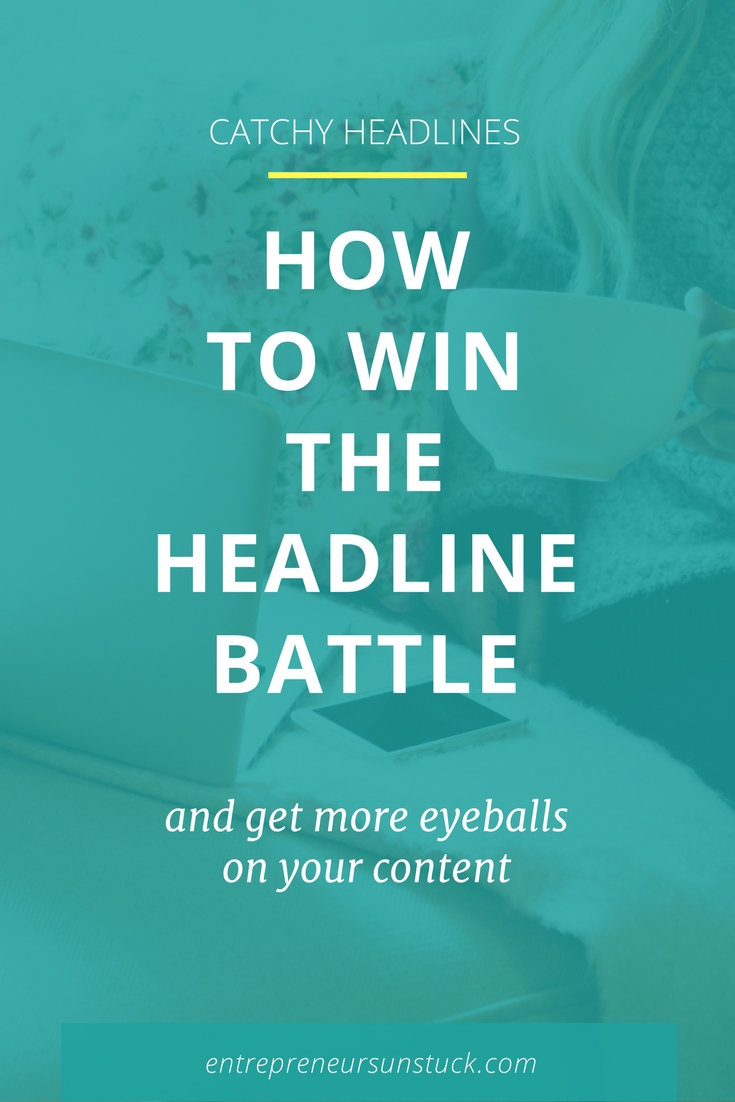 Are you a blogger or entrepreneur who's sick of all the pressure related to creating headlines that convert? Here are 8 simple tweaks that will rock your blog post titles and social media headlines!