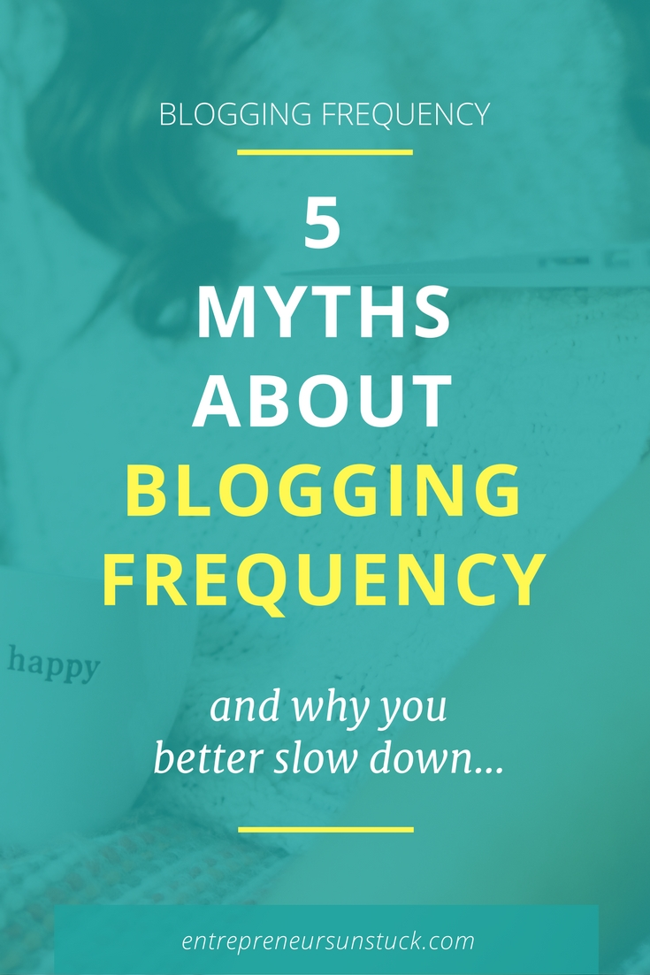 Are you exhausted by the blogging frequency you are trying to keep up with? Here's why posting less on your blog can not only avoid burn out but also increase your blog traffic and engagement!