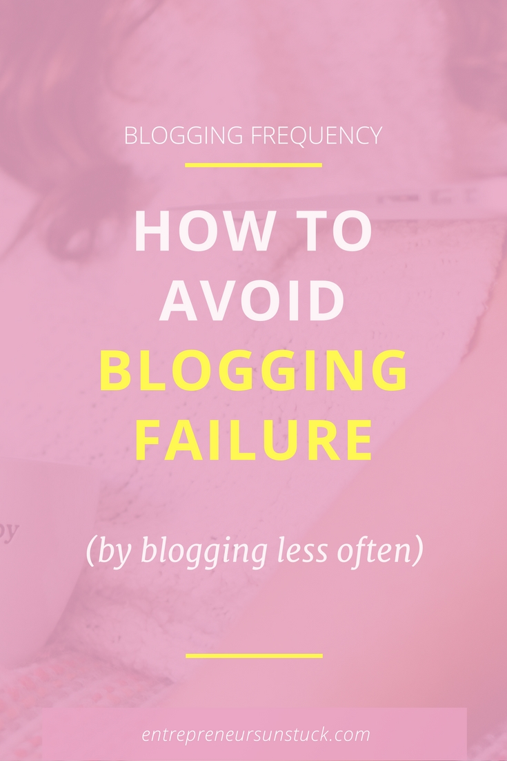 What if posting less on your blog will not hurt but boost your blog traffic and engagement? Here's why you better slow down your blogging frequency and what to use your time for instead!
