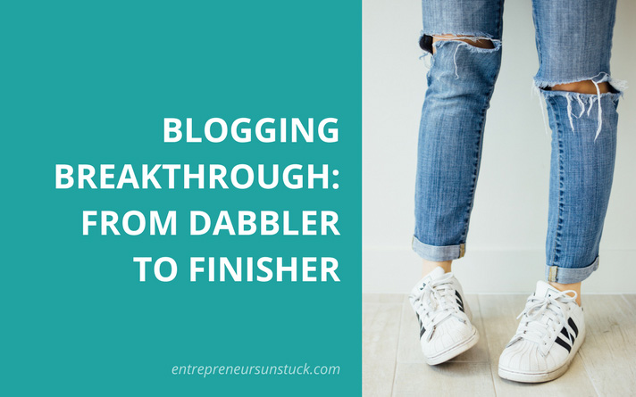 How I How I Got Serious with Blogging – from Dabbler to Finisher